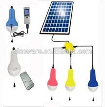 Fuera de la red de energía solar linterna con teléfono función de cargador