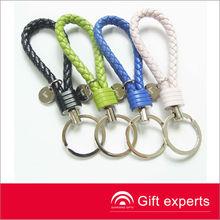 fashion Pure manual weaving PU key chain