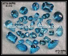 any shape each cut blue sapphire quartz