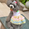 Personalized dog dress patterns, lovely pet dress with rainbow color, pet dress
