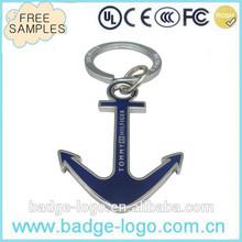 soft enamel casting anchor keychain