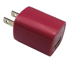 multi colour USB Home AC Wall Charger for iPhone 5 5S iPod Touch