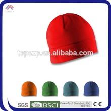 winter red handmade knitted beanie hat