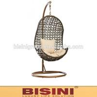 Patio/Garden leisure ways rattan swing chair/ hanging swing(BF10-R716)