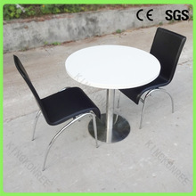 KKR artificial stone glossy wholesale two seater table and chair set