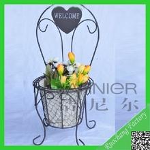 2014 Hot sale flower pot rack,wood flower pot rack,small metal flower pot