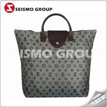 reusable silk printing non woven shopping bag foldable canvas nylon shopping bag