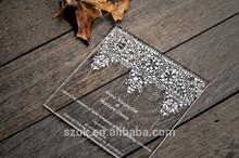 promotional luxury design crystal acrylic invitation wedding card
