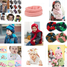 NEW FASHION HOT SELLING STYLES children knitted scarf glove and hat set