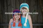 Wholesale Crochet Frozen Hat Elsa Girl Hat Crochet Queen Elsa inspired Frozen hat/wig, Frozen