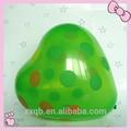 inflável colorido dot impresso látex balão formato de coração bola