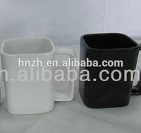 large ceramic square coffee mugs with square shape handle