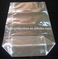 Transparent round bottom plastic bag