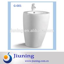 bathroom floor standing pedestal wash basin