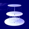4 Tiers Plastic Cupcake Display Stand Folding Butterfly Decorative White Round Acrylic Cake Display Stand