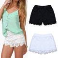 fanshou 2014 europeo de la moda de primavera y verano las mujeres pantalones cortos de alta elástico de la cintura de encaje casual pantalones cortos pantalones cortos 6258