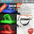 La venta caliente! Cuidado de la piel máscara de led con tres colores de la luz para el acné eliminación máquina de la cara