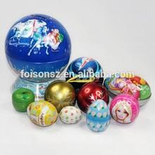 Christmas gift candy tin ball tin box, chocolate metal tin box packaging