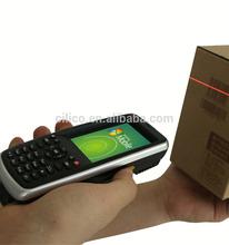Waterproof IP54 Windows Mobile PDA 1D bar code scanner HF RFID card reader Smart phone with Bluetooth GPS GPRS WIFI