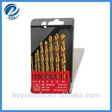 8pcs HSS drill bit sizes 3mm-10mm