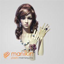 Eco-friendly plastic mannequin doll head hair art