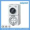 SAIP/SAIPWELL New Product 3P+N+E Waterproof Modular Socket Switch