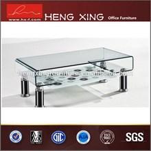 Durable adjustale height solid wood slab coffee tables