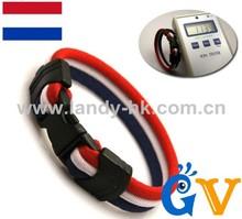 Fashion Healthy Aqua-titanium Anion Football Sports charm sport fitness bracelet