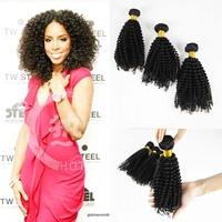 6a top grade mongolian afro kinky curly human hair full cuticle kinky hairpiece