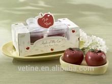 Beautiful Apple Ceramic Salt and Pepper Shaker Wedding Favors Decoration giftsper Shak