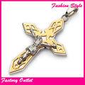 Atacado grande cruz pingentes bijuteria