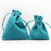Small size colour printed velvet drawstring bags