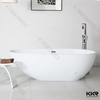 Modern Matte White Solid Surface Small Freestanding Bathtub
