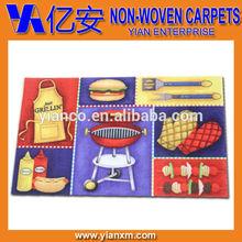 Kitchen high definition printed PVC mats