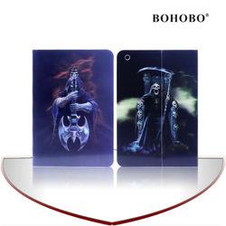 BOHOBO 3d printed flip leather case for Ipad mini