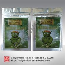 Aluminum foil Aroma green giant 10g incense bag, Aroma green giant 10g spice bag,Alice in wonderland herbal incense bag