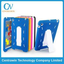 PC+silicone fold splendid color case for iPad Mini case