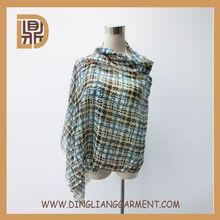 high quality latest custom fashion checked printed military scarf