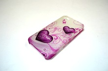 China Factory Wholesale price Good quality Luminous design heart pattern printing transparent PC case for iphone 5