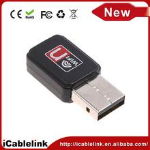 Mini USB portátil wifi inalámbrico Lan adaptador / dongle, Tarjeta de red inalámbrica 802.11 n / g / b velocidad máximo 150 Mbps para receptor de navegación por internet
