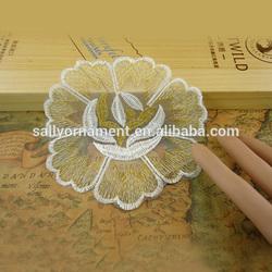 Newest wholesale white chiffon flower applique for wedding