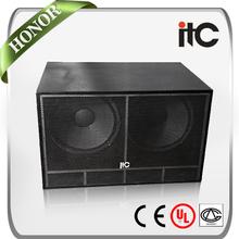 """ITC TS-218 1000 Watt 4 ohm 2.0 18"""" Subwoofer Boom Box"""