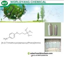 Worldyang [4-(3-Trimethoxysilylpropoxy)Phenyl]Amine;cas no 55648-29-8 ;Colorless transparent liquid