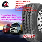 TBR tires With DOT 100% new TRANSKING brand all steel radial truck tires DRIVE 295/75R22.5 ,11R22.5, 11R24.5 16PR CHINA FACTORY