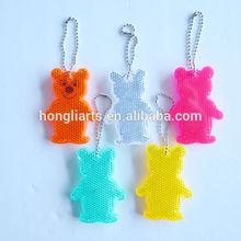 Bear Shape Visibility Reflect Hanging Keychain