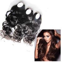 No Artificial Coloring Cuticle Same Direction 8~30Inch 7A Grade 100% Black Color Virgin Indian Natural Wave Hair