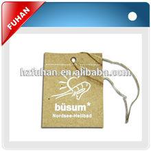 2014 fashionable design digital printing hang tag for garment/shoes/toy
