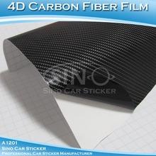 çin araba etiket yüksek kalitede hava kabarcığı ücretsiz siyah 4d karbon kompozit