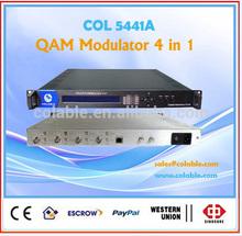 Arabic iptv 1080p modulator excellent RF performance index COL5441A QAM Modulator 4 in 1