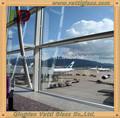 Ponto- suporte de vidro da parede de cortina. Parede de vidro painéis para venda, parede de vidro preços, de baixo custo com vários projetos